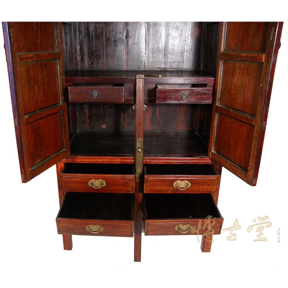Chinese Antique Carved Beech wood TV Armoire 18LP18 Chinese Antiques