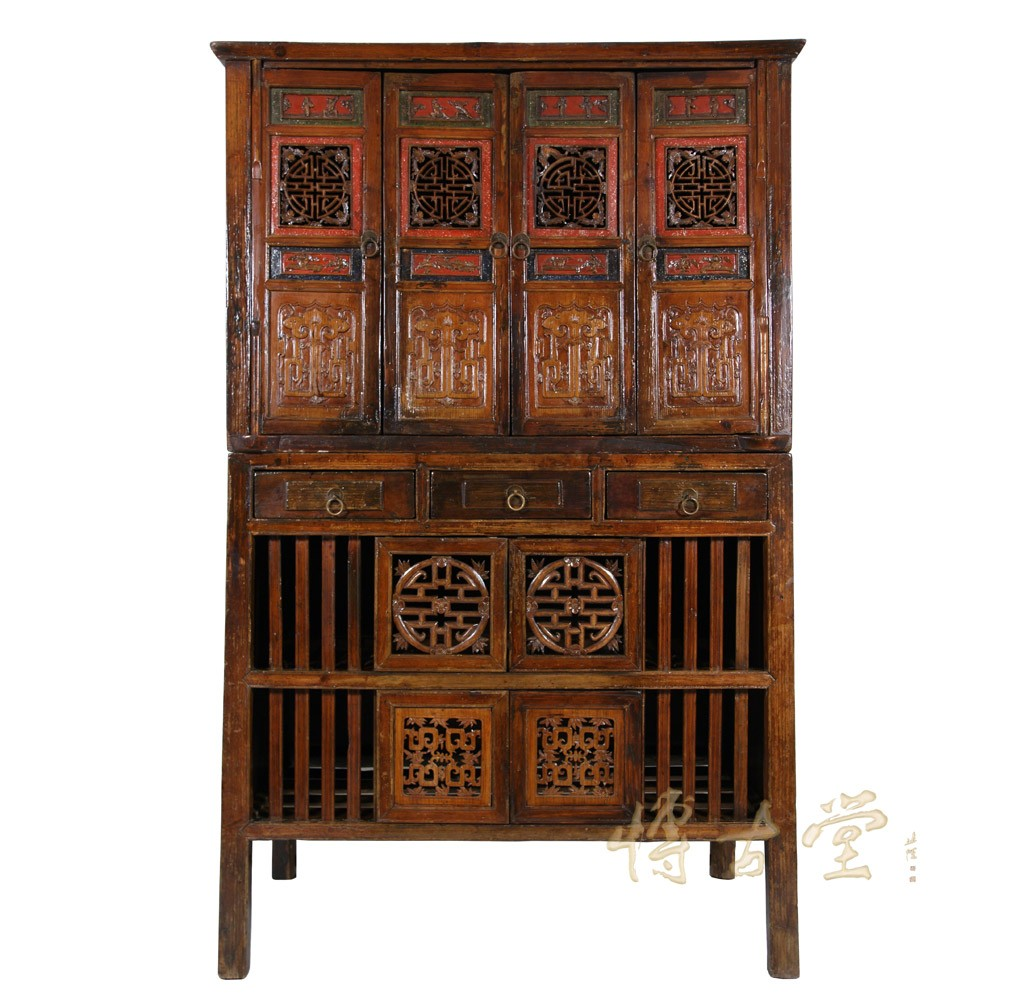 Chinese Antique Kitchen Cabinet Entertainment Center