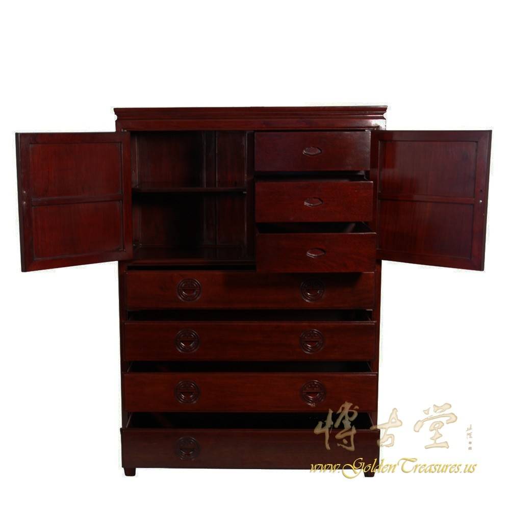 Chinese Antique Rosewood Cabinet Chest Of Drawers 13lp53