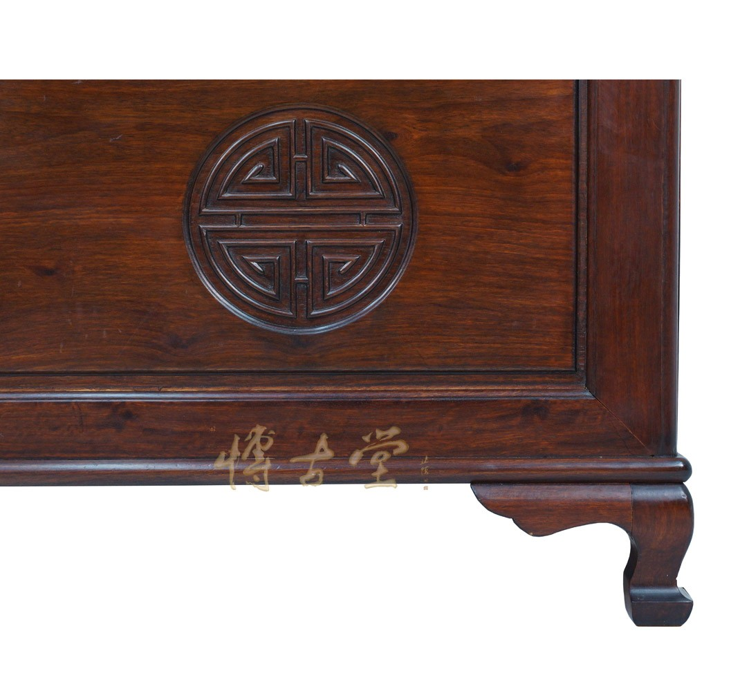 Chinese Antique Carved Rosewood Hope Chest Coffee Table