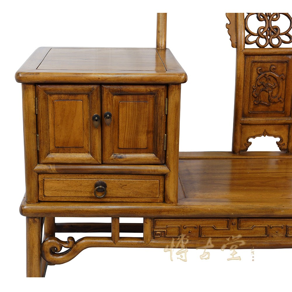 Chinese Antique Carved Camphor Wood Telephone Table W