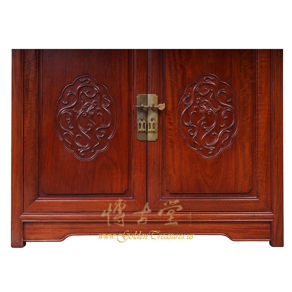 Chinese Antique Rosewood Altar Cabinet Sideboard 16lp59