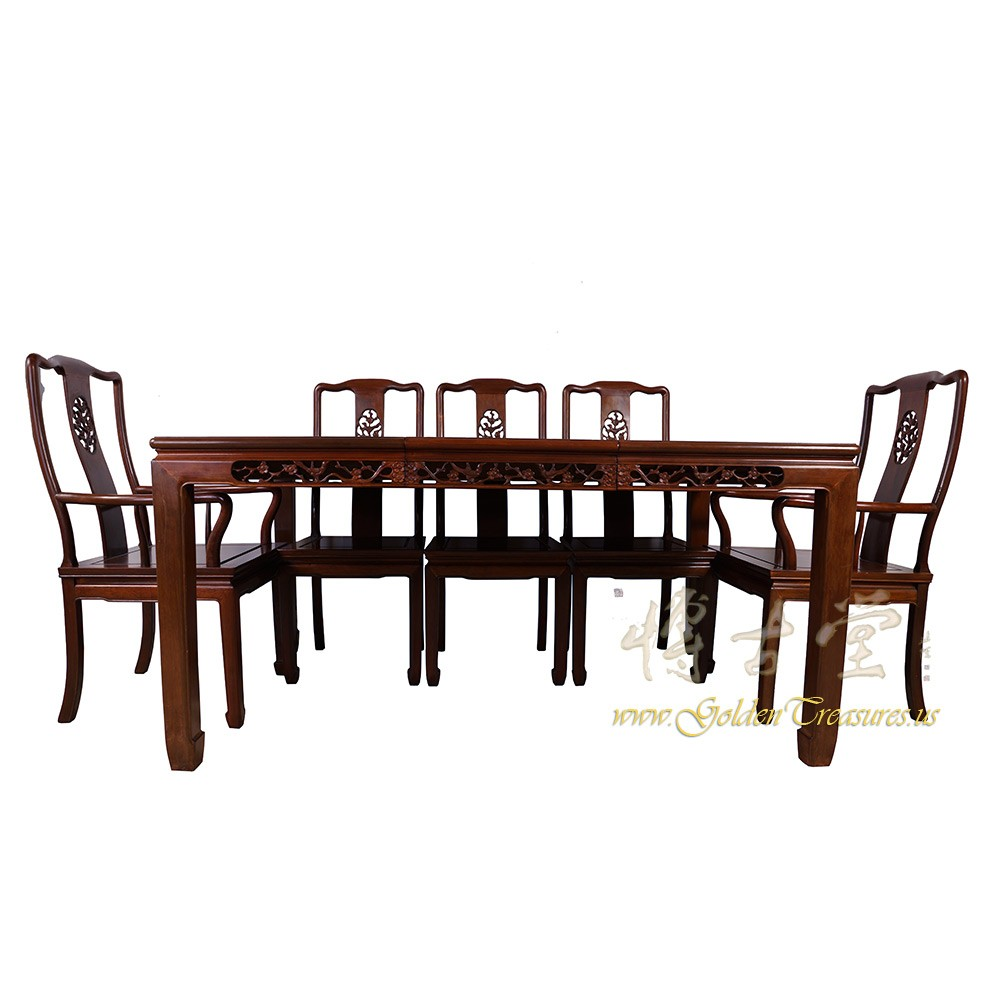 Chinese Antique Rosewood Dining Table W/8 Chairs Set 17LP38
