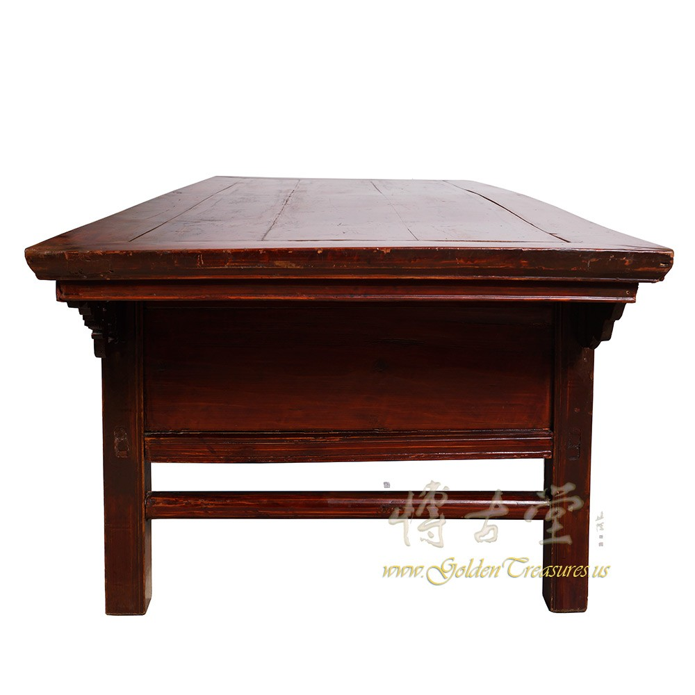 Chinese Relief Coffee Table: Chinese Antique Carved Zhejiang Coffee Table/TV Stand