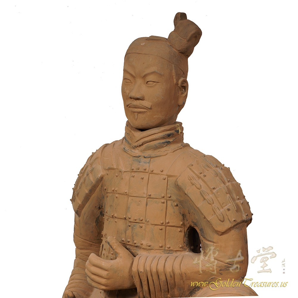 Chinese Tang Style Warrior and Horse Statue : Everything