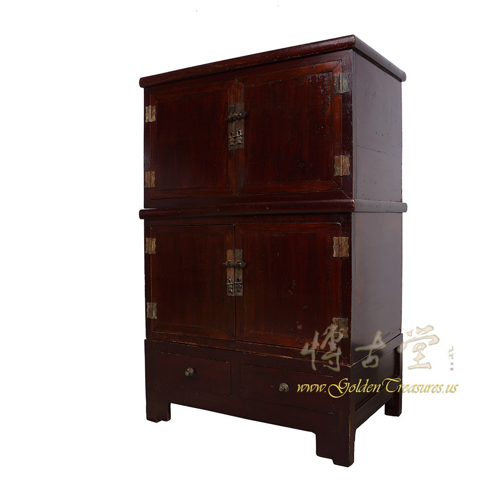 Chinese Antique Stackable Cabinet Chest 18h16 Chinese Antiques