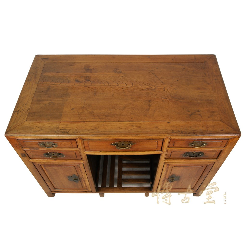 Chinese Antique Beech Wood Writing Desk Vanity 22p97
