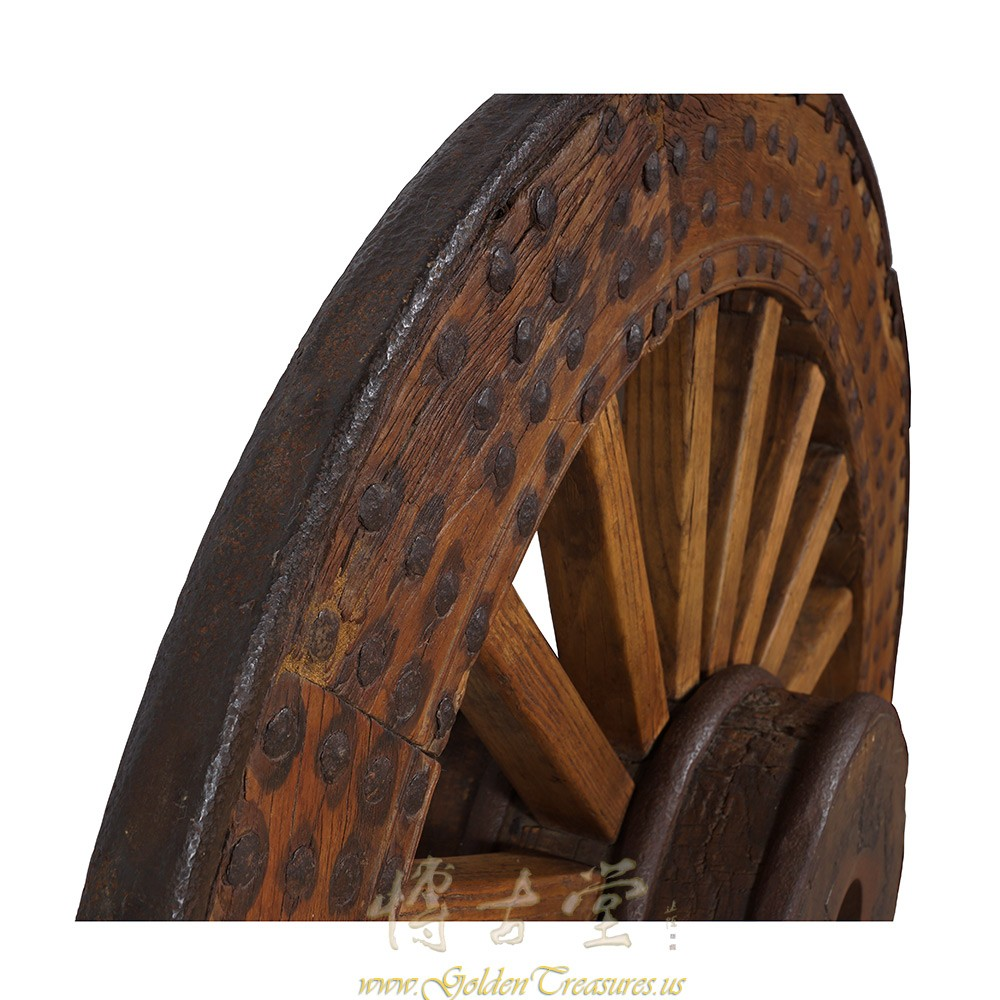 Chinese Antique Huge Country Wagon Wheel 24p89 Chinese