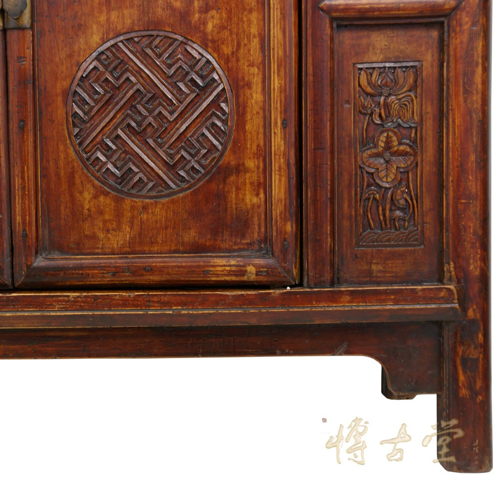 Chinese Antique Open Carved Coffer Armoire 25p14 Chinese