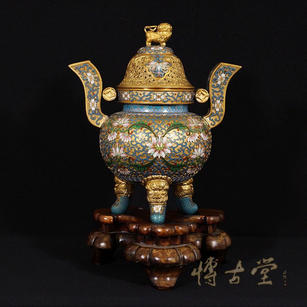 Chinese Antique Carved cloisonne Incense Burner 15LP24