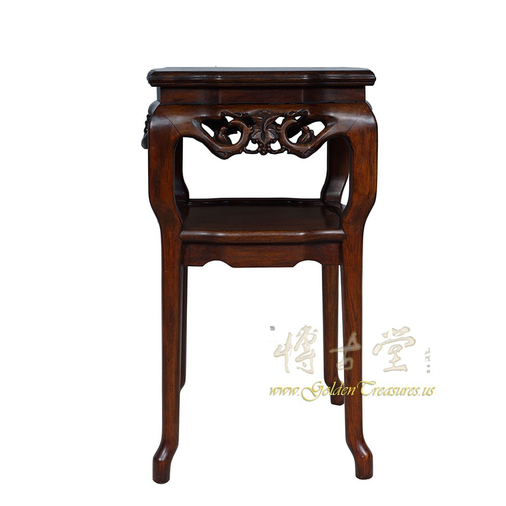 Chinese Antique Carved Rosewood Pedestal Table/Plant Stand 16LP31