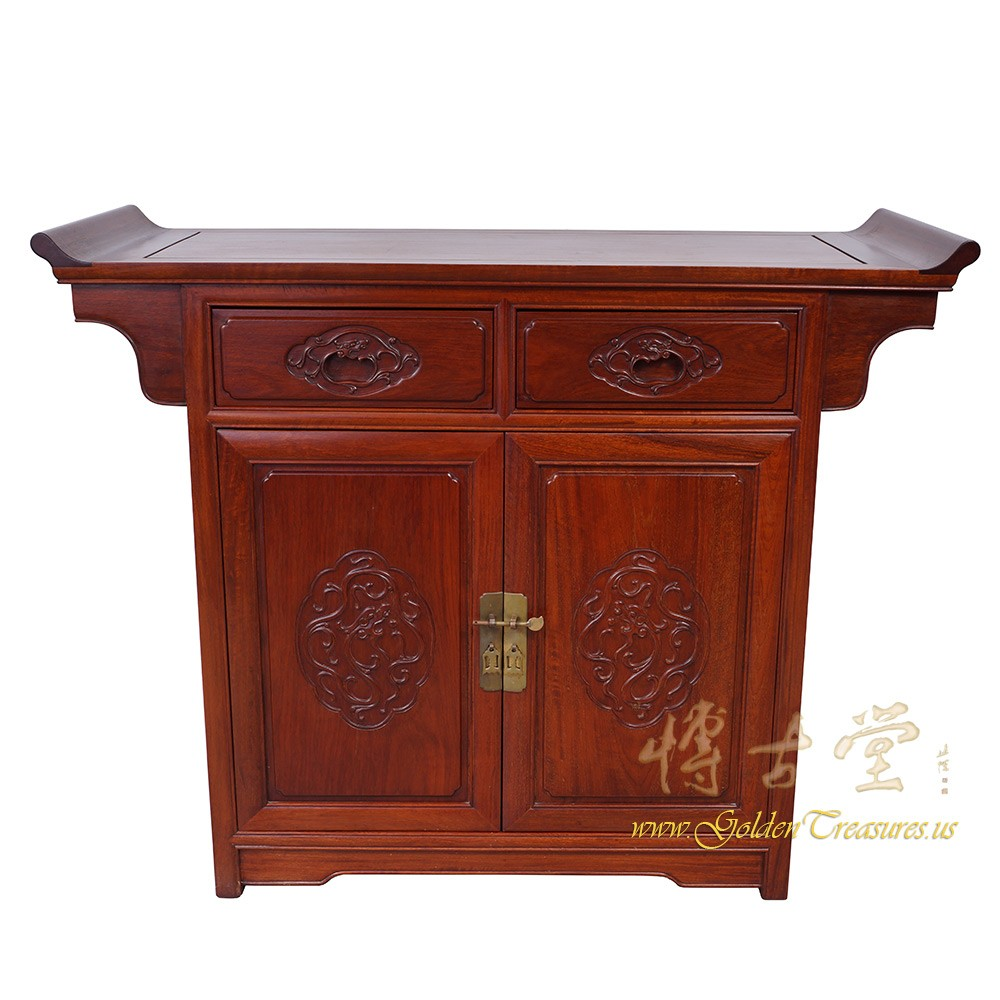 Chinese Antique Rosewood Altar Cabinet/Sideboard 16LP59