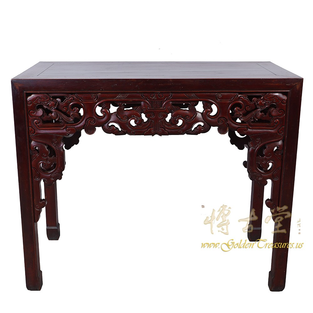 Chinese Antique Massive Carved Beech Wood Dragon Table 16LP63 Chinese  Antiques