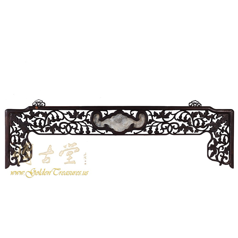 Chinese Antique Rosewood Carved Wedding Bed Panel - Wall Hanging 16LP68