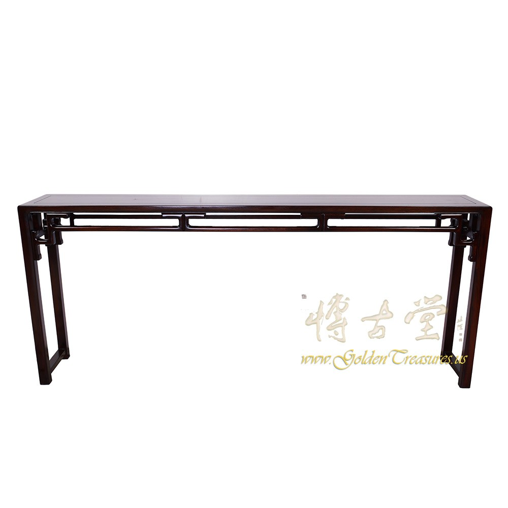 Chinese antique rosewood entry console sofa table lp