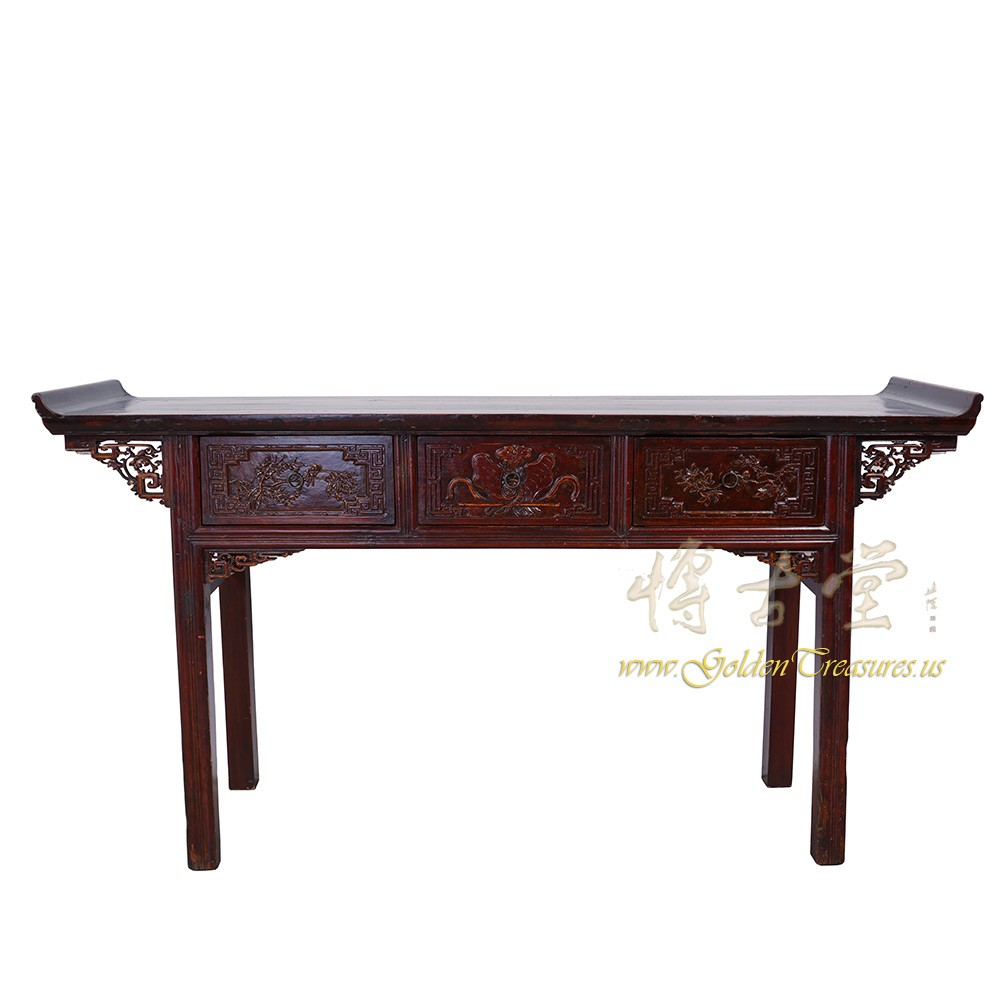 Chinese Antique Carved Zhejiang Altar Table/Console Table 17LP28