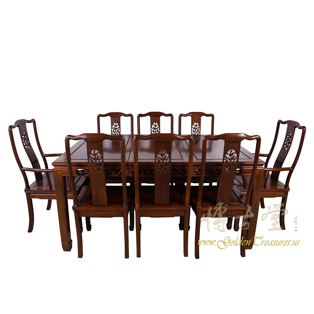 chinese antique rosewood dining table w 8 chairs set 17lp38 chinese antiques. Black Bedroom Furniture Sets. Home Design Ideas