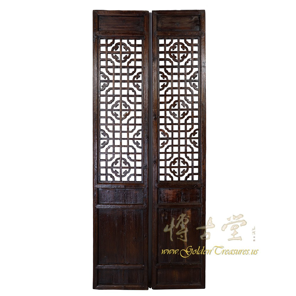 Chinese Antique Carved Lattice Interior Door/Wall Panels Pair 17LP74 Chinese Antiques  sc 1 st  Golden Treasures Antiques & Chinese Antique Carved Lattice Interior Door/Wall Panels Pair 17LP74 ...