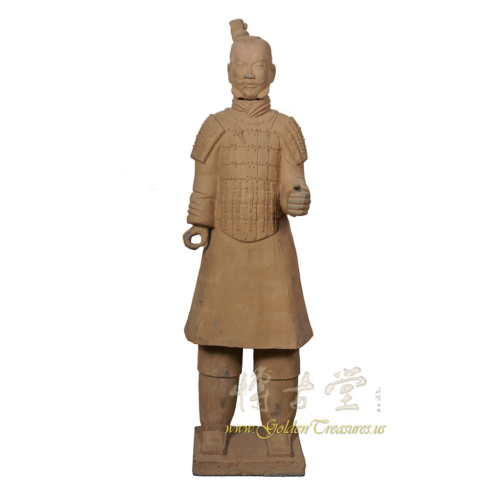 Antique Chinese Reproduction Life Size Terra-cotta Warrior 17LP79