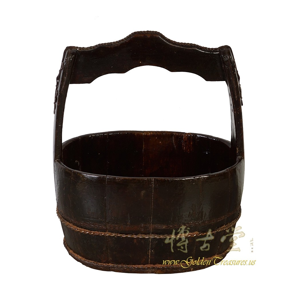 Antique Chinese Wooden Water Bucket Chinese Antiques