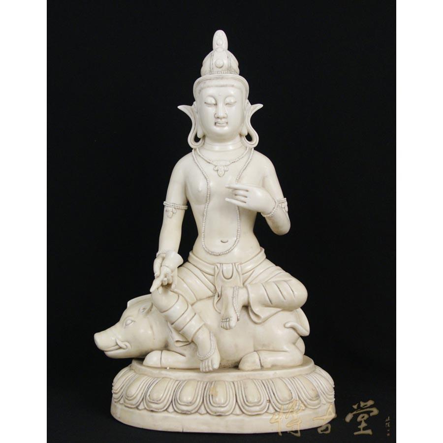 Chinese Antique De Hua Porcelain Kwan Yin Statuary