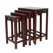 Chinese Antique carved Rosewood Nesting Table Set 14LP49