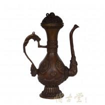 Tibetan Antique Carved Bronze Dragon TeaPot 15HZMP051