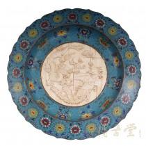Chinese Antique 23 Cloisonne Plate 15LP47
