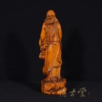 Chinese Antique Carved Boxwood Buddha Statuary Da Mo 15XH89