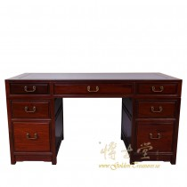 Chinese Antique Rosewood 7 Drawers Office Desk 16LP81