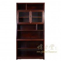 Chinese Antique Rosewood Book Cabinet with Glass Door compartment/Display Shelves 16LP87