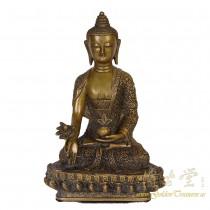 Tibetan Antique Carved Bronze Buddha Statuary 16LP98