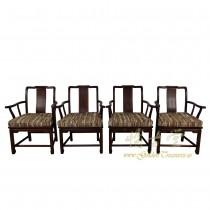 Vintage Chinese set of 4 Teakwood Dinning Chairs 17LP08