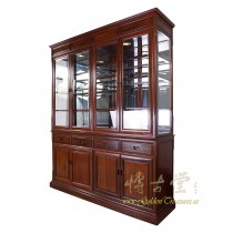 Chinese Antique Rosewood China Cabinet 17LP22