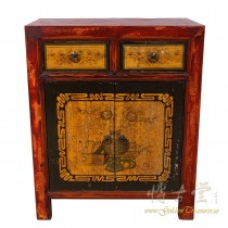 Vantage Chinese Mongolia Painted Night Stand/End Table 17LP80