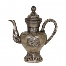 Chinese Antique Carved Silver TeaPot 25X75