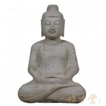 Chinese Carved Stone Meditation Buddha Statuary 25X99