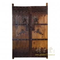 Chinese Antique Massive Court Yard Doors Panels Pair 27P01-1