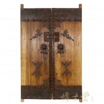 Chinese Antique Massive Court Yard Doors Panel 27P01-4