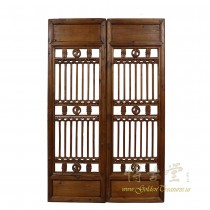 Chinese Antique Window Shutters -Wall Hanging - Pair  27P09A