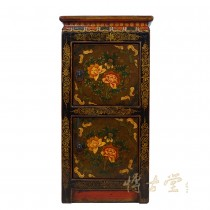 Tibetan Antique Painted Night Stand/End Table 28M04
