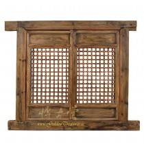 Chinese Antique Open Carved Window Panel with Frame - Wall Hanging 28T13