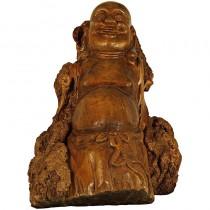 Chinese Antique Carved Stump Buddha Statuary