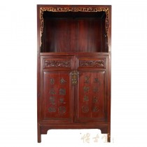 Chinese Antique Carved Wan Li Display Cabinet