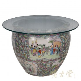 Vintage Chinese Porcelain Round Coffee Table 15LP48