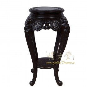 Chinese Antique Carved Rosewood Pedestal Table/Plant Stand 16LP44