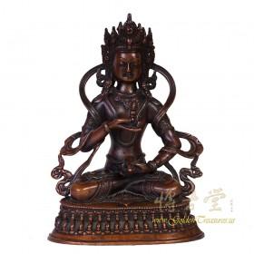 Tibetan Antique Carved Bronze Buddha Statuary 16LP99