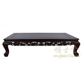 Vintage Chinese Rosewood Dragon Motif Coffee Table 17LP50