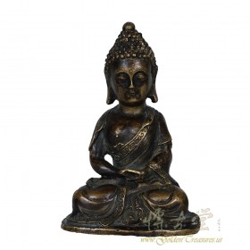 Chinese Antique Carved Ming Style Bronze Buddha Statuary 27XH93
