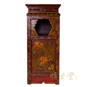 Tibetan Antique Painted Night Stand/End Table 28M04A